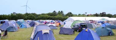 Camping beim Dünenhof Festival