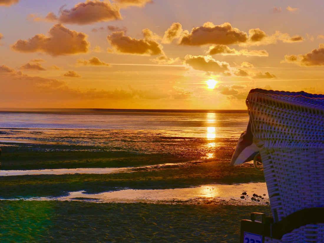 Cuxhaven - Sonnenuntergang am Strand